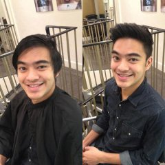 before and after mans haircut